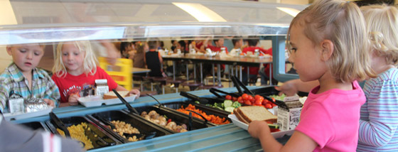 SCHOOL LUNCHES SALAD BAR