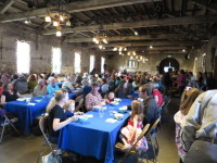 view of soup night in stone hall