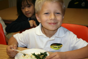 "Mount St. Mary's student Nicholas Martin agrees: Janet Asher's ""Best Kale Salad"" is the best!."