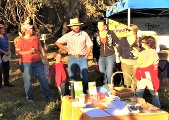 nevada county community members and farmers at our farm potluck