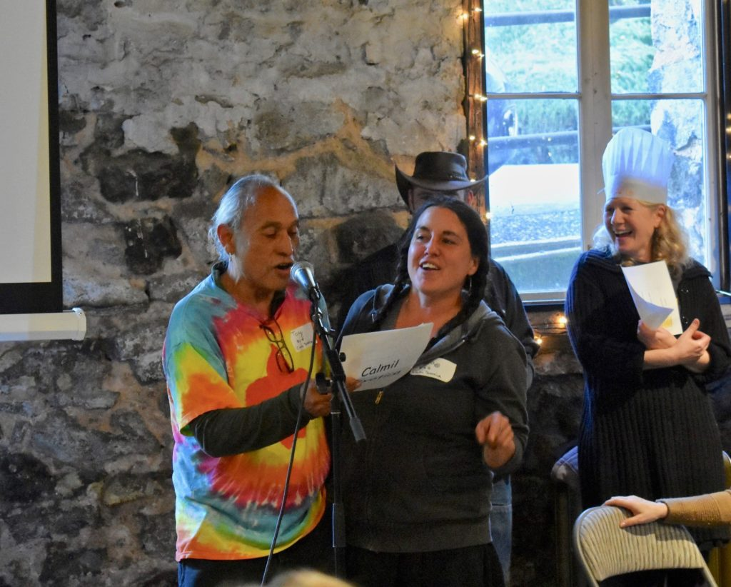 Farmers presenting at Soup Night Nevada City