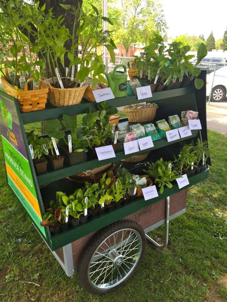 Sierra Harvest farm to school farm cart