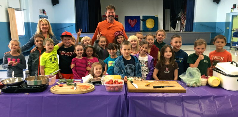tasting week at grass valley charter school, sierra harvest