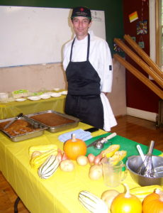 Ike Frazee of Ike's Quarter Cafe at Mt. St. Mary's School
