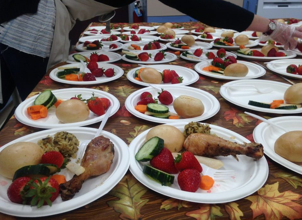 D. What's for lunch at Deer Creek Elementary? Mary's non-GMO chicken drumstick, whole-wheat California roll, rice pilaf, and a medley of fresh fruit and vegetables.