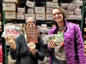 Edy and Emily - Peaceful Valley seed donations 2019