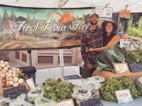 First rain farm at farmer's market 2018