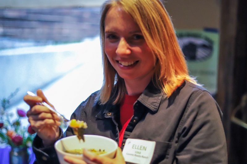 2019 soup Night - Ellen Cole of Cosmic Roots Ranch - Jason Scallin photographer