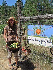Amanda Thibodeau at Food Love Farm