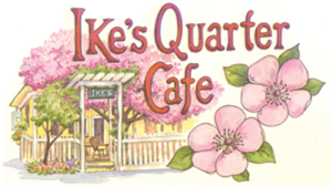 Ike's quarter cafe logo - donor for soup night 2020