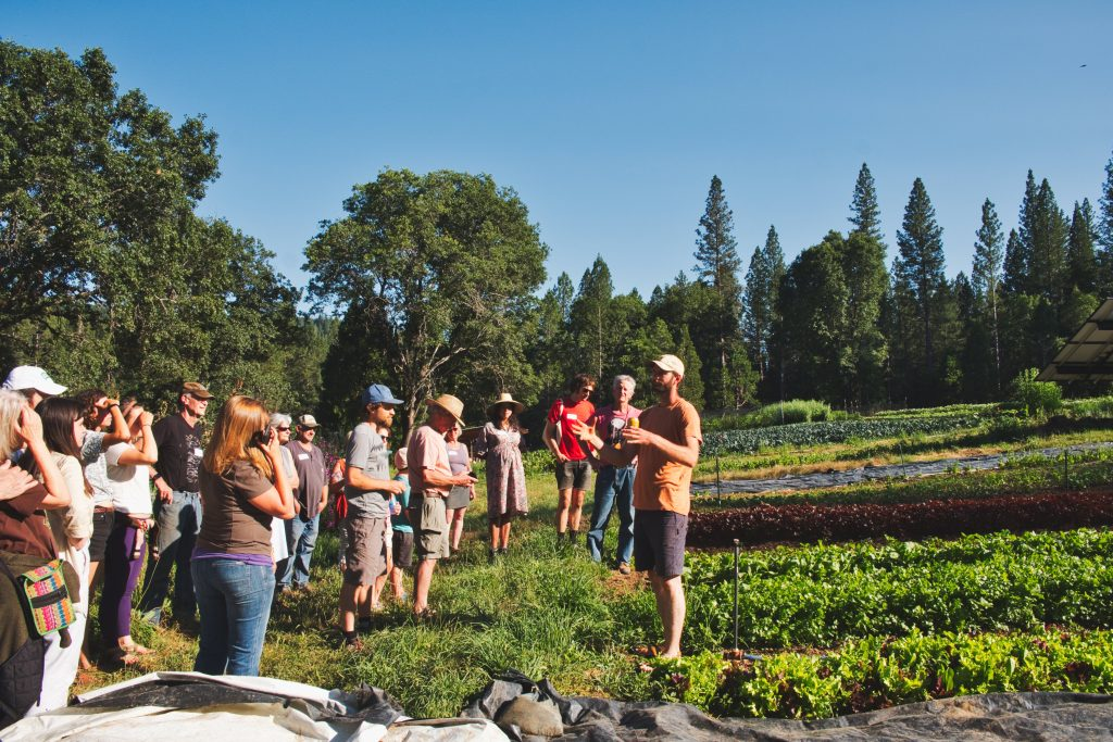 farm tour at First Rain Farm 2019